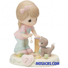 Precious Moments Growing in Grace Age 7 Brunette 4.75 inch 154034B