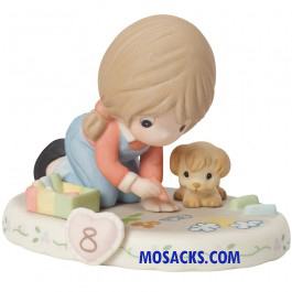 Precious Moments Growing in Grace Age 8 Brunette 4 inch 154035B
