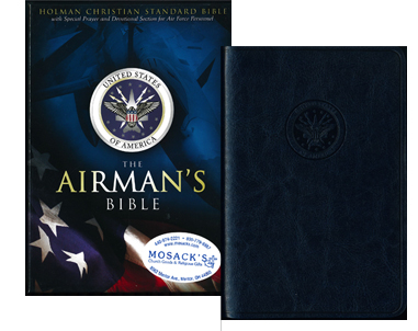 The Airman's Bible in blue simulated leather, 4-1/2 x 7 in., 9781586401030