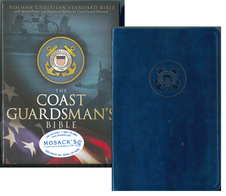 "Coast Guardsman's Bible, blue simulated leather, 4-1/2 x 7""., 9781586402518"