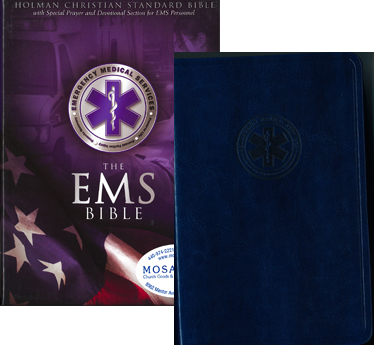 EMS Bible in Blue simulated Leather, 9781433602481