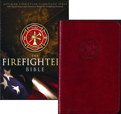 "Firefighter's Bible in Dark Red Simulated Leather, 4-1/2x7"", 9781586400972"
