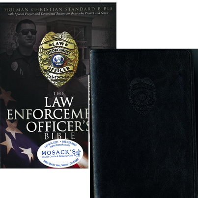 Law Enforcement Officer's Bible in Black simulated leather, 9781433602429
