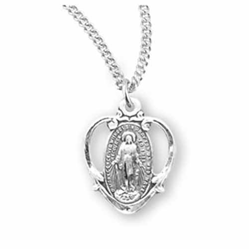 "Sterling Silver Miraculous Medal, 3.4"", S210718"