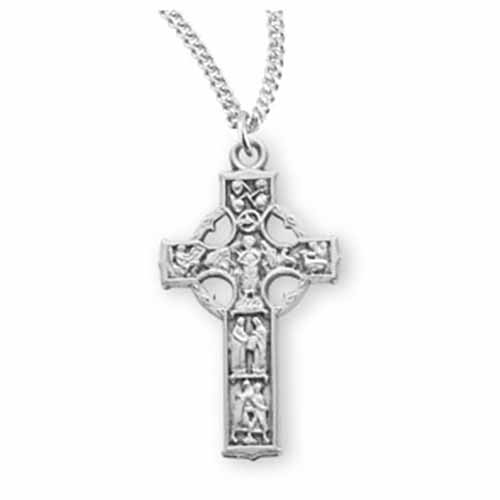 "HMH, Sterling Silver Celtic Cross, 1-1/4"", S172118"