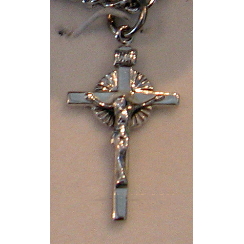 "Sterling Silver Crucifix, 3/4"", S382224"