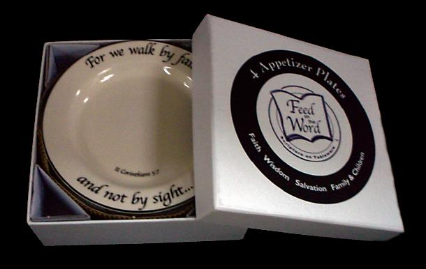 Feed on the Word Scripture Tableware Appetizer/Dessert Plate Hatbox 7-HA-AA