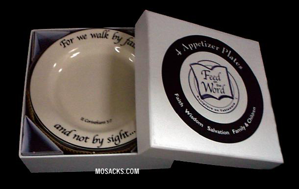 Feed on the Word Scripture Tableware Appetizer/Dessert Plate Hatbox 7-HA-BB