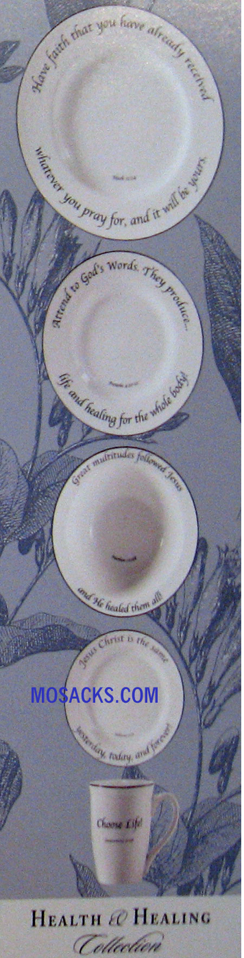 "Feed on the Word ""Health & Healing"" Scripture Tableware 5-Pc  #5-210"