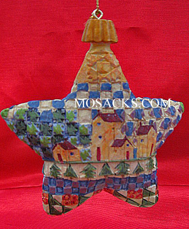 Jim Shore Heartwood Creek Star With Buildings Hanging Ornament #118708