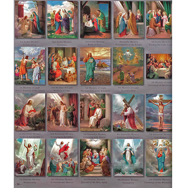 "The 20 Mysteries of The Rosary 8"" x 10"" Teaching Aid Prints 1471"