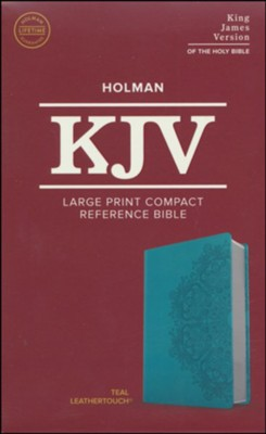 KJV Large Print Compact Reference Bible, Teal Leathertouch - Large Print 9781535935753
