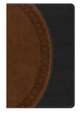 Holman NKJV Large Print Personal Size Reference Bible, Black/Brown Deluxe Leathertouch, Indexed 9781433649707