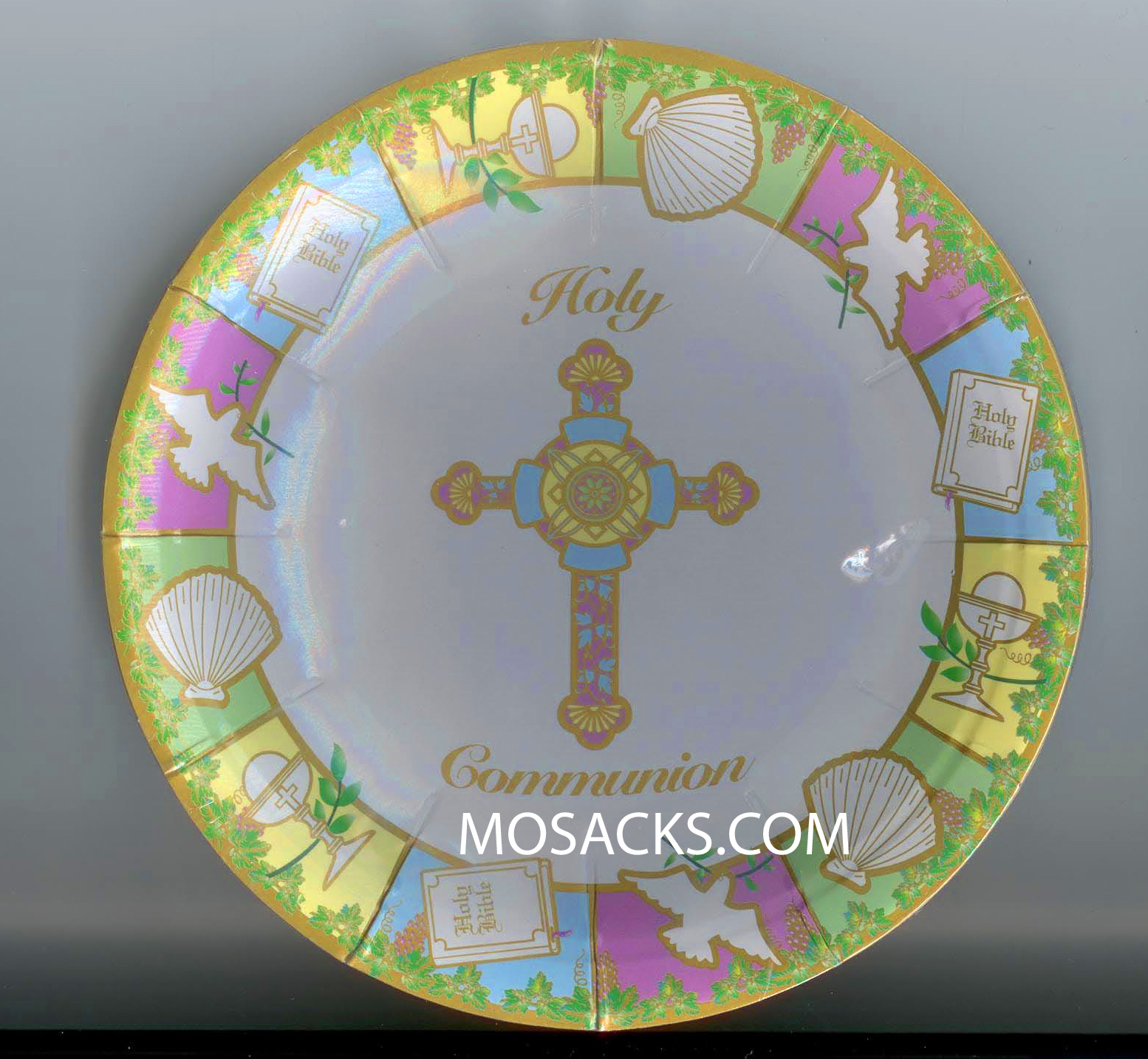 Holy Communion 7\  Cake Paper Plate 23407. These sturdy First Holy Communion 7\  cake plates are sold 10 per package. 23407  sc 1 st  Mosack\u0027s & Communion Hematite Bead 17.5\