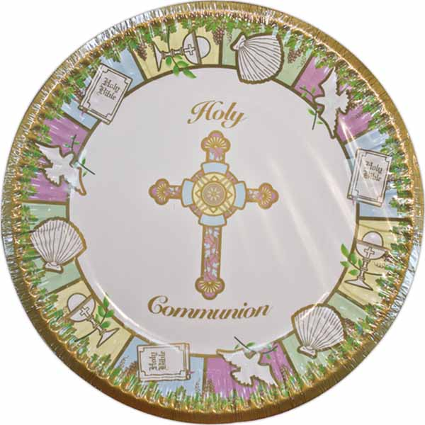 "Holy Communion 9"" Dinner Paper Plate 23409"