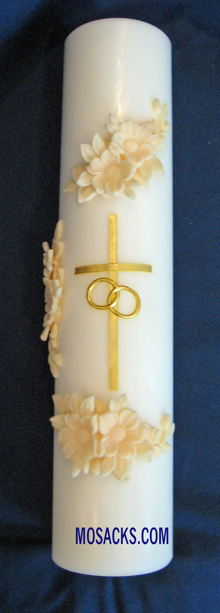 Holy Matrimony Gold and Cream Center Unity Candle 84401001