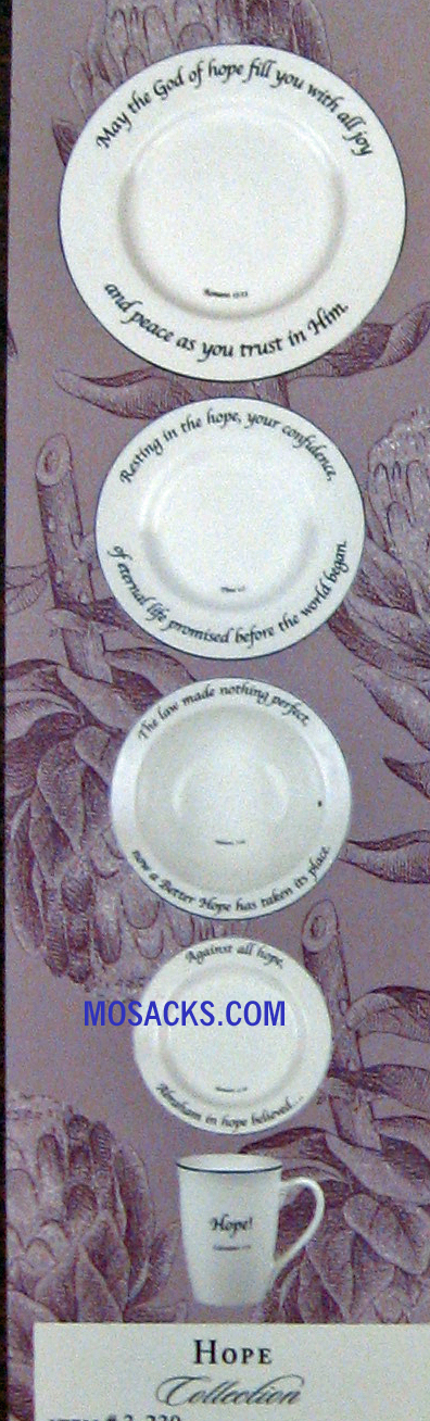 "Feed on the Word ""Hope"" Scripture Tableware 5-Piece Place Setting #5-230"