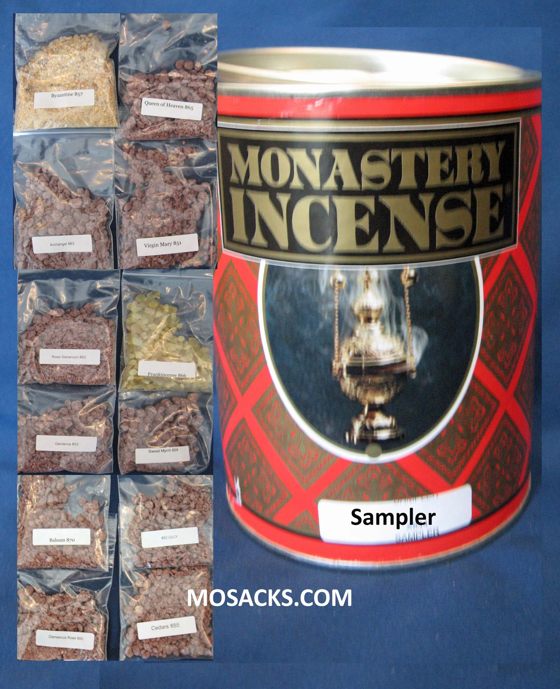 Incense Assortment Pack 12 ounce Monastery Incense Sampler-844
