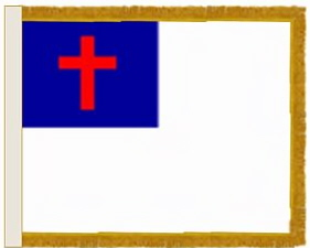 Christian Flag, 4x6 ft. nylon for indoor use, 46259000