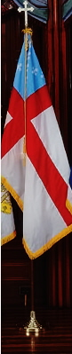 Episcopal Flag 4x6 ft. nylon for indoor use, 46259080