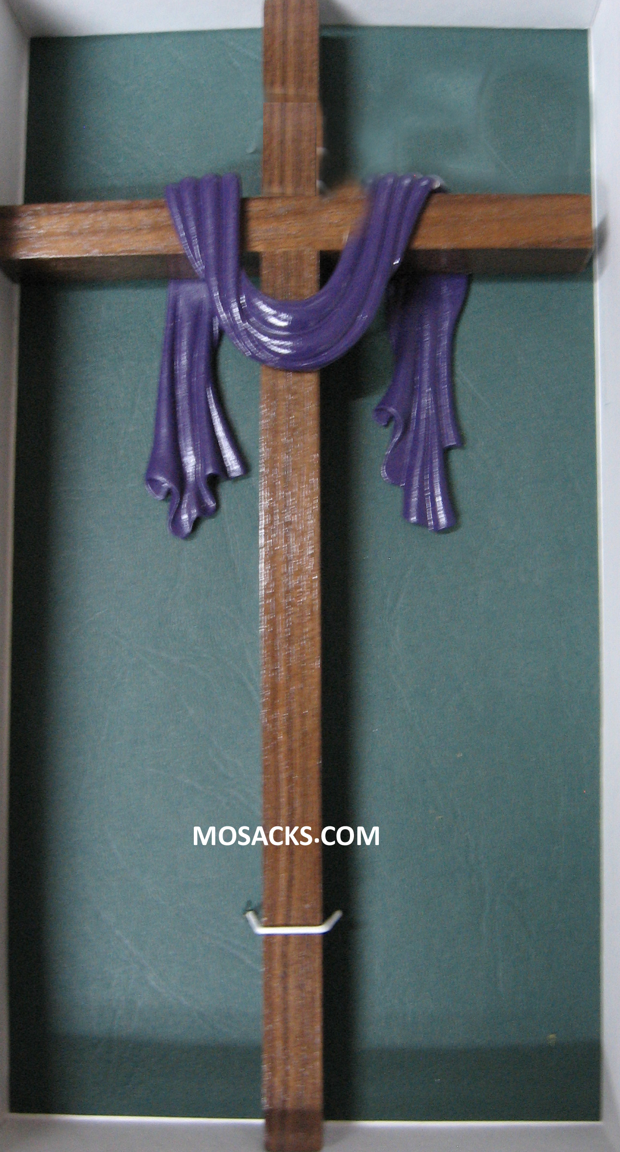 "Cross with Purple Robe 10"" Walnut 34-JC1161V"