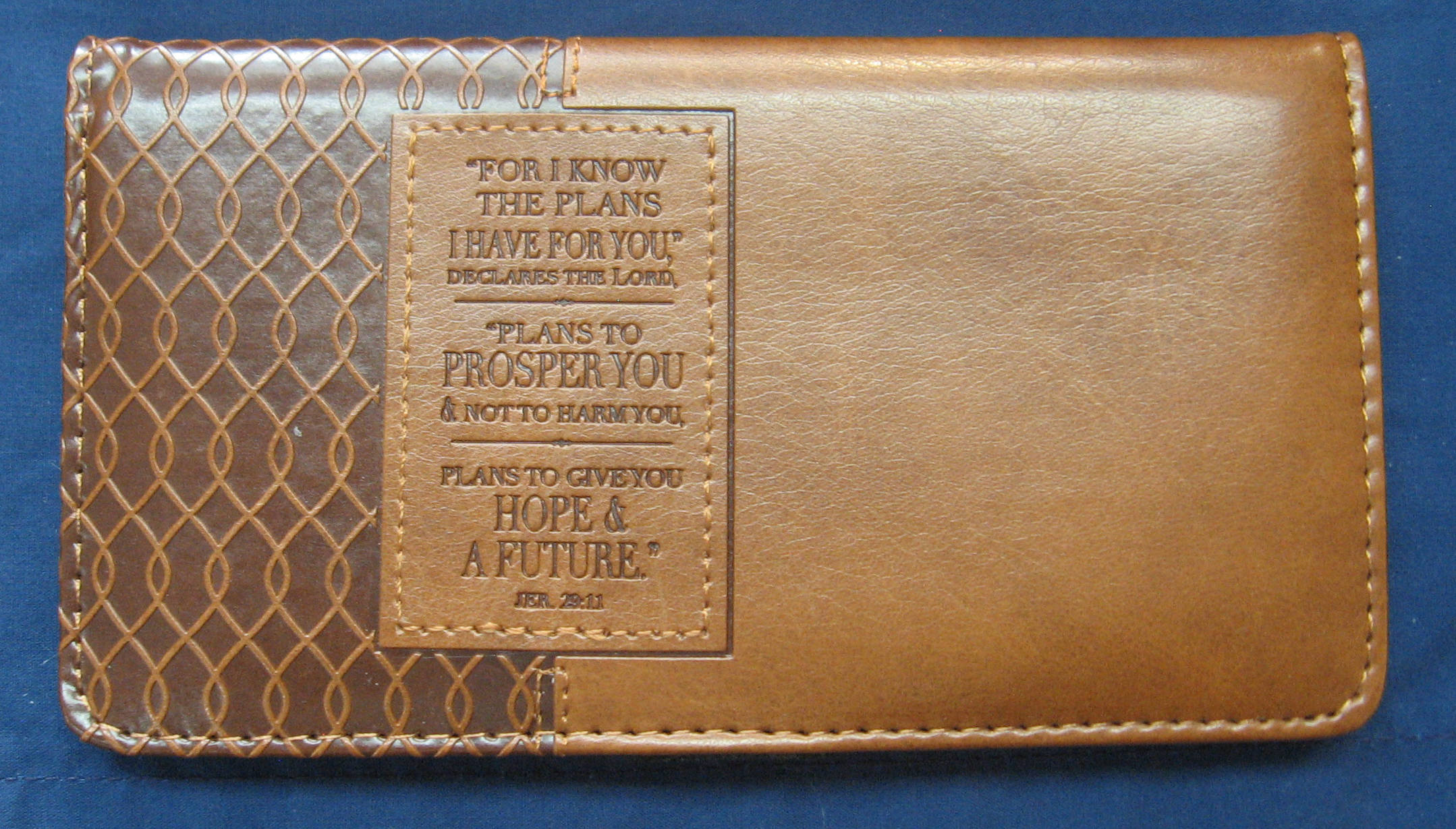 JEREMIAH 29-11 LuxLeather Checkbook Cover-6006937117068