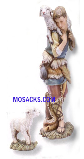 "Joseph's Studio 27"" Full Color Nativities Gabriel & Lamb 2-Pc. Set #36192"