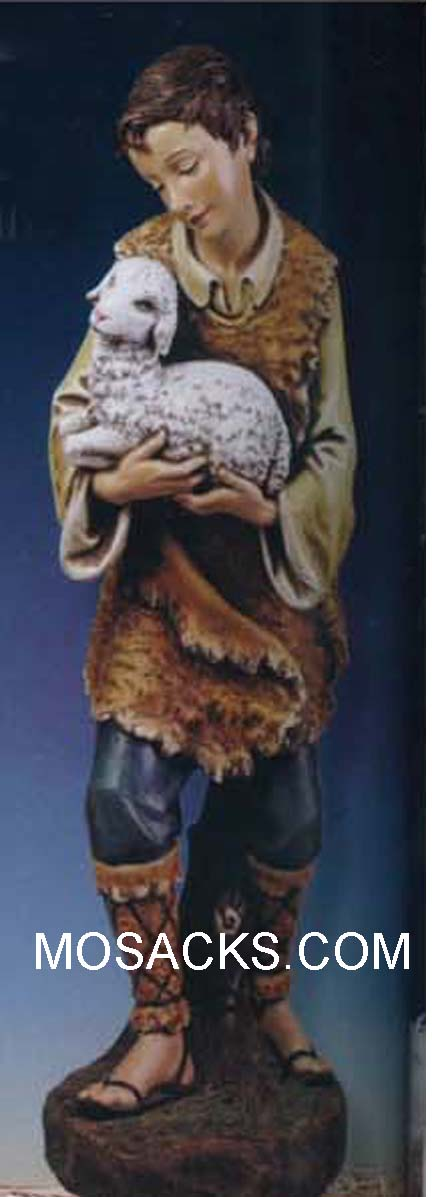 "Joseph's Studio 39"" Full Color Nativity Gabriel w/Lamb #33512"