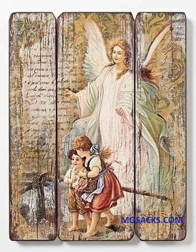 "Joseph's Studio Guardian Angel Decorative Panel 15"" 66470"