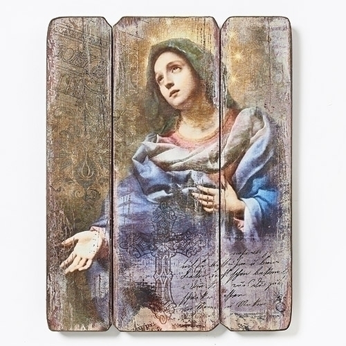 "Joseph's Studio Blessed Virgin Mary Decorative Panel 15"" 20-66460"