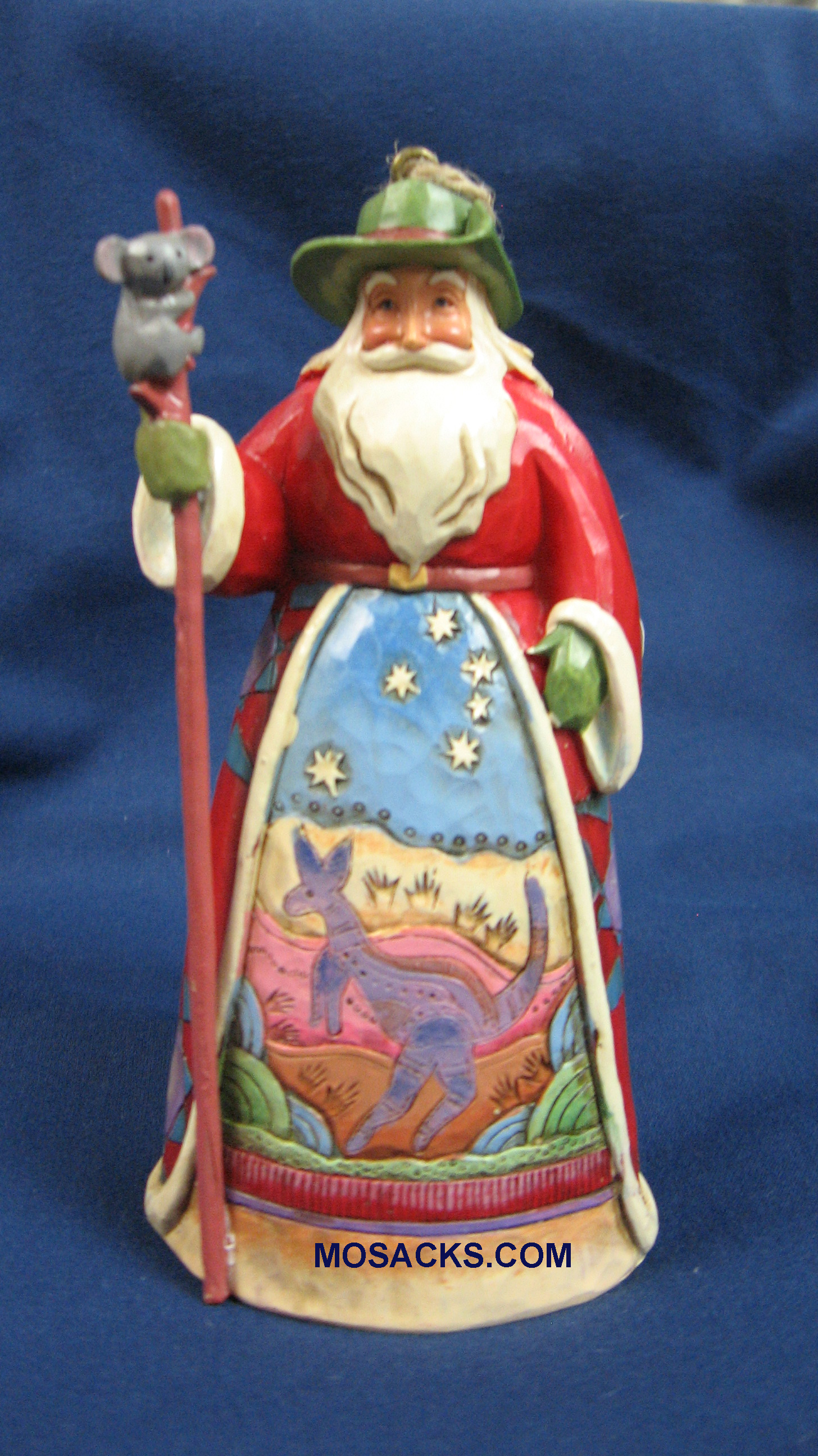 "Jim Shore Heartwood Creek 5"" Australia Santa 258-4041113"