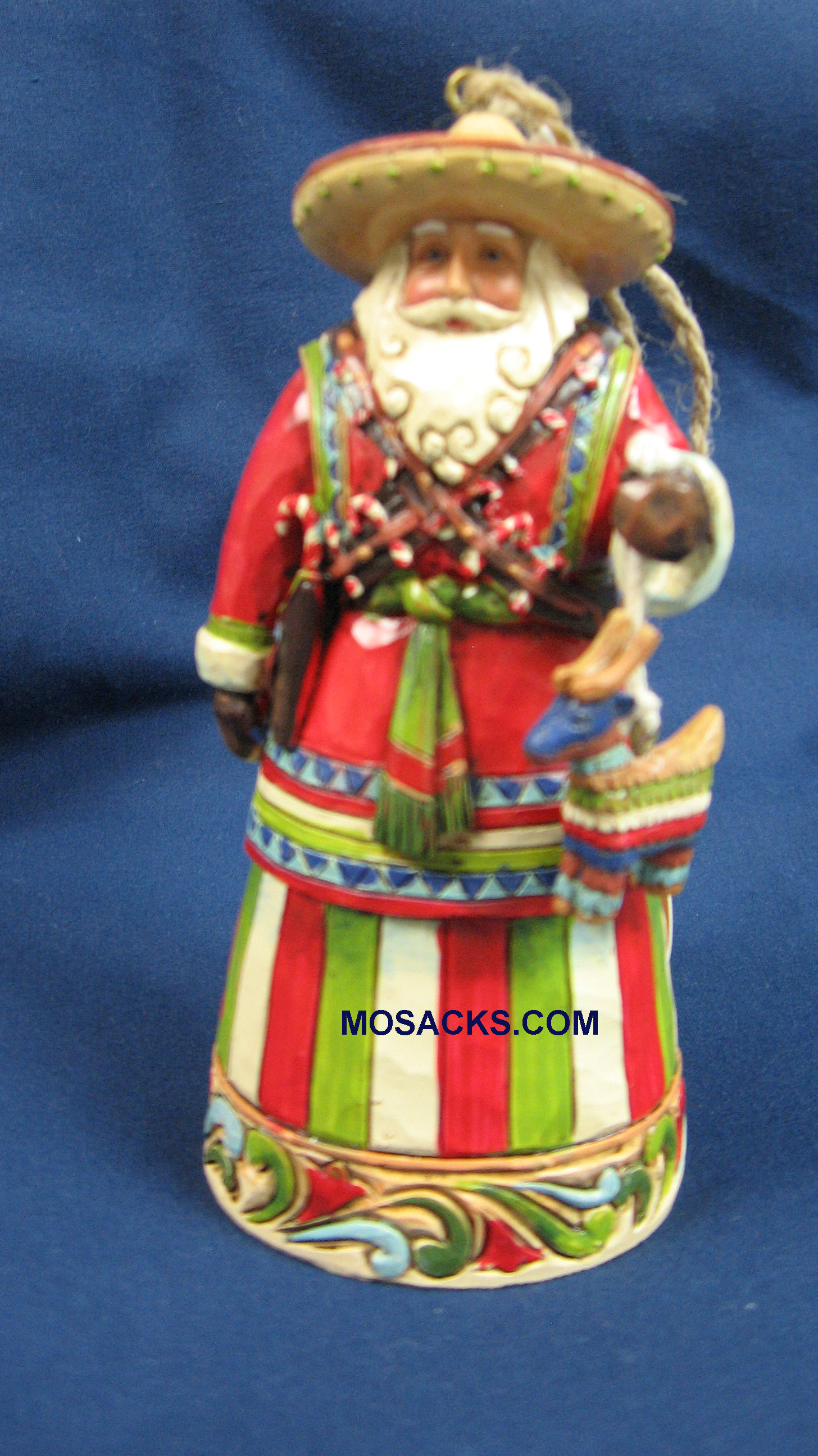 "Jim Shore Heartwood Creek 5"" Mexico Santa 258-4027742"