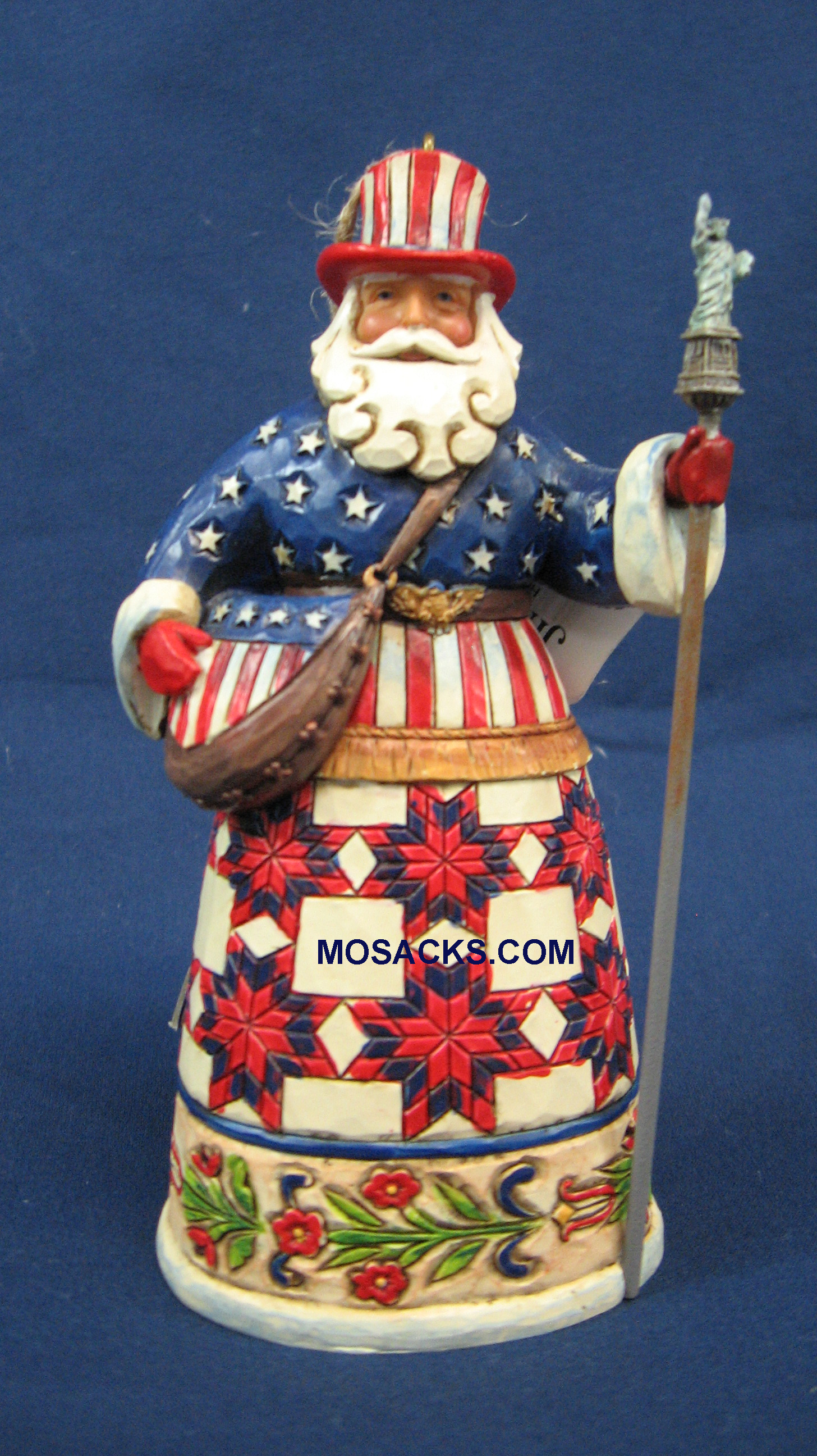 "Jim Shore Heartwood Creek 5"" U.S.A Santa 258-4026272"