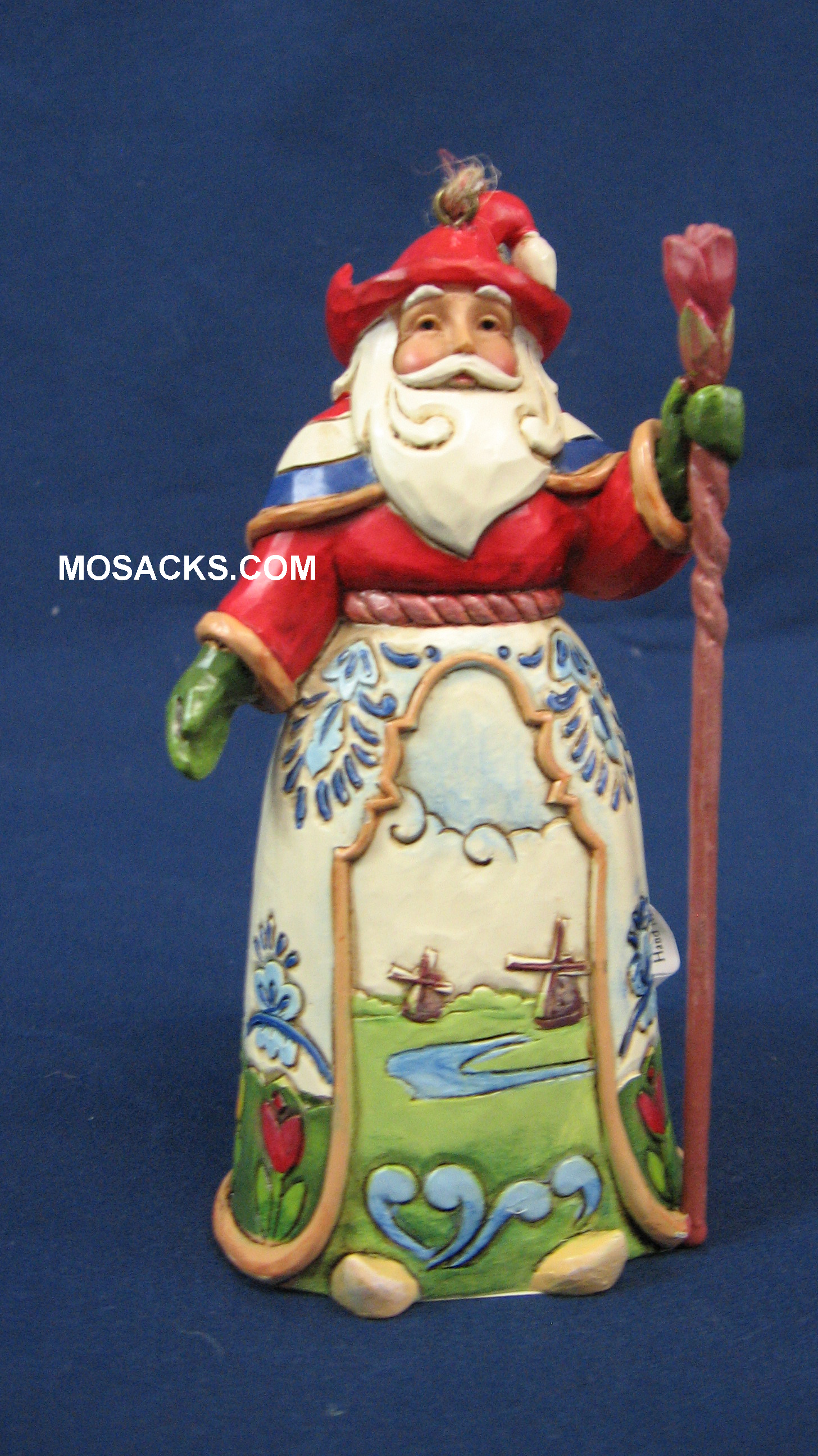 "Jim Shore Heartwood Creek 5"" Dutch Santa 258-4034400"