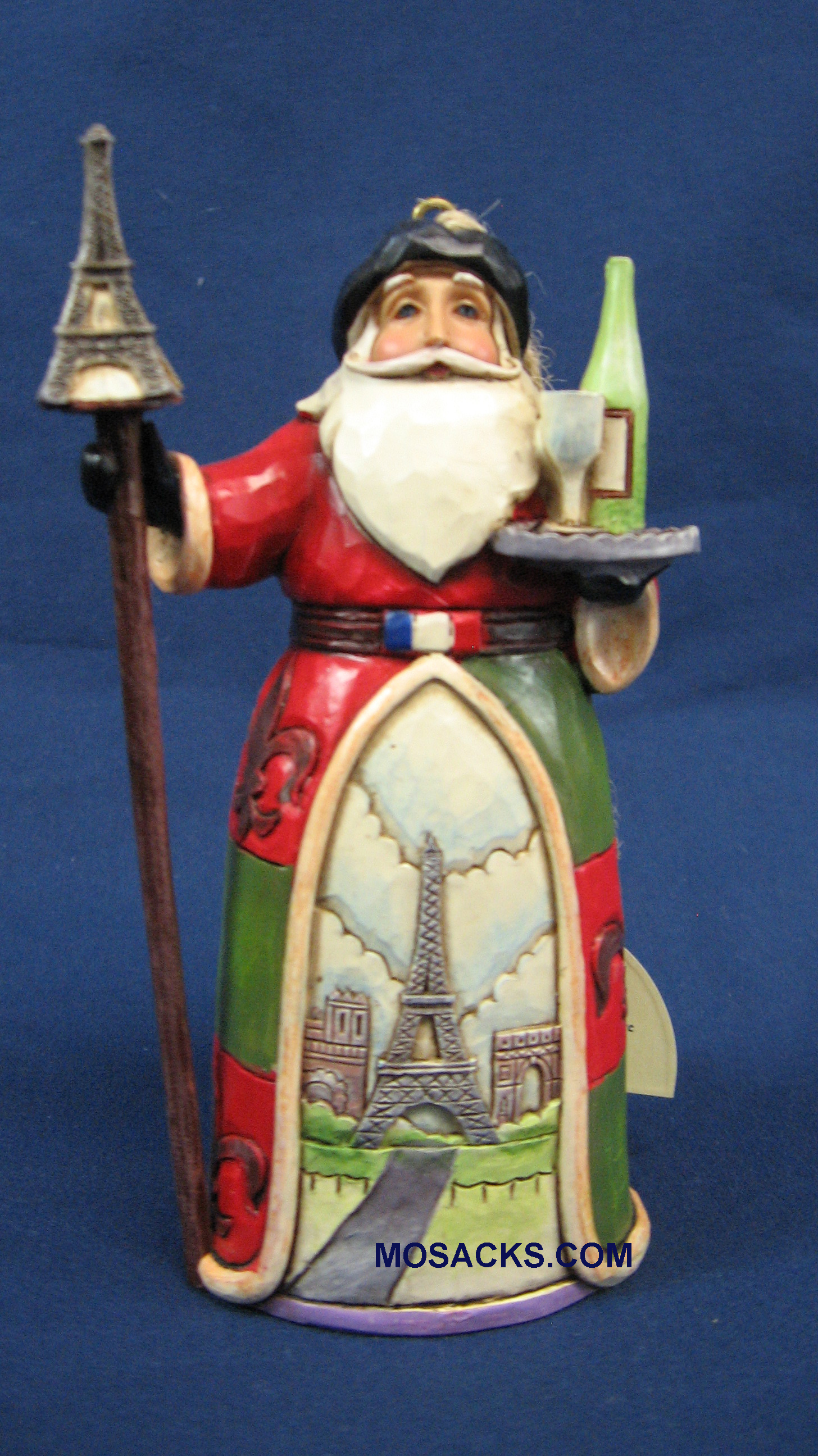 "Jim Shore Heartwood Creek 5"" France Santa 258-4034399"