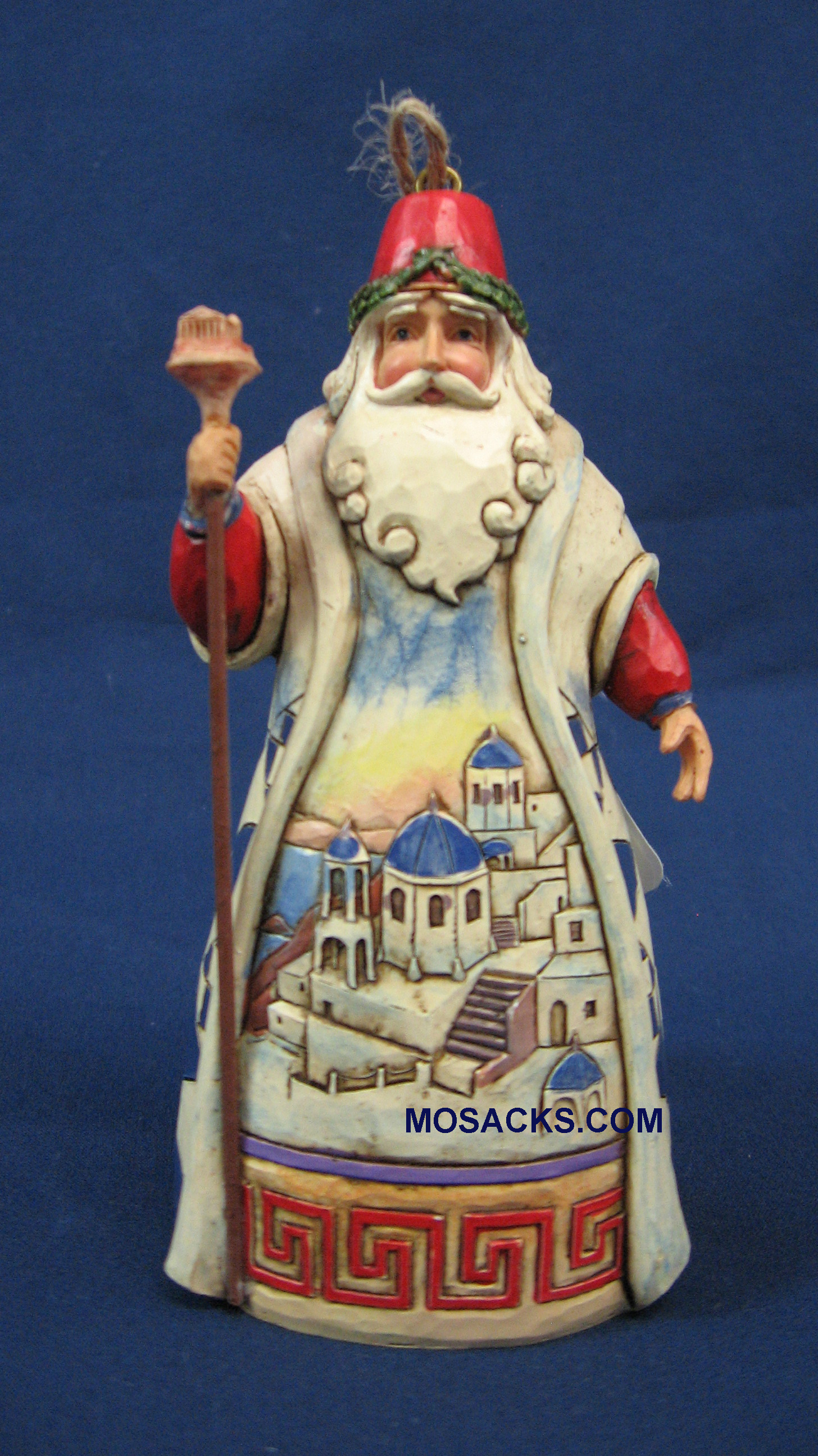 "Jim Shore Heartwood Creek 5"" Greece Santa 258-4041112"