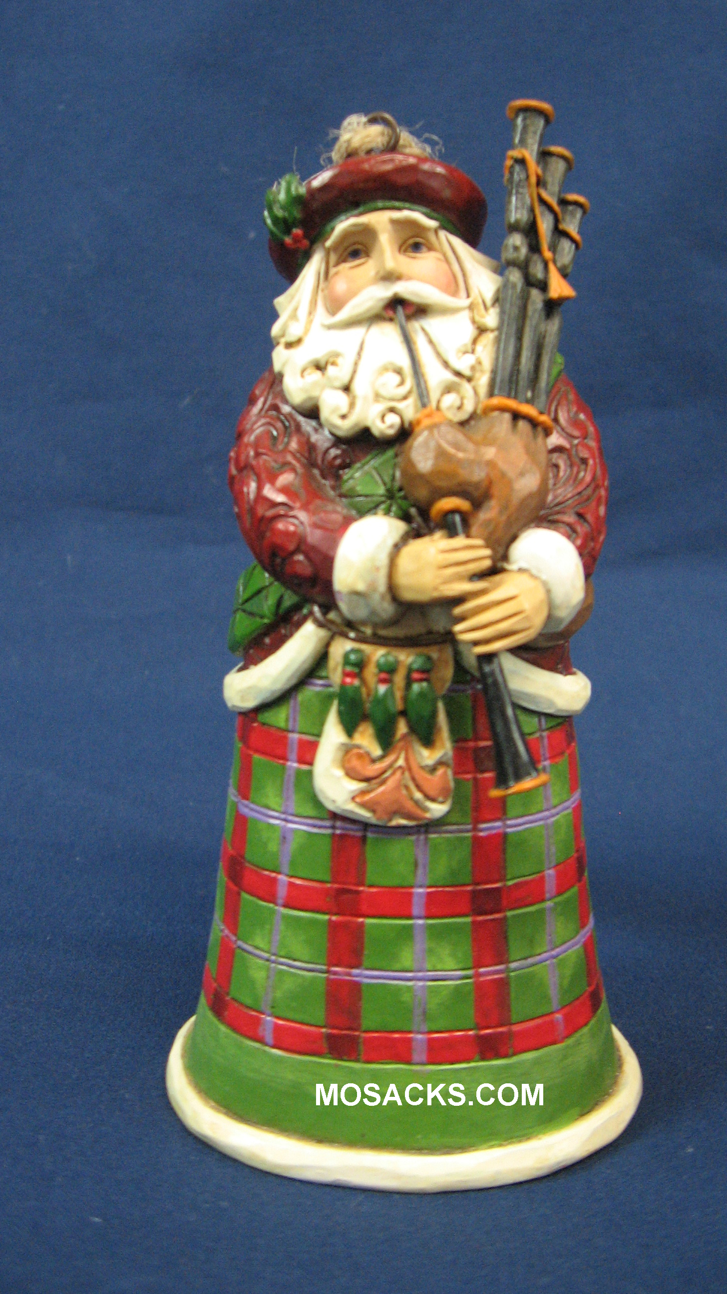 "Jim Shore Heartwood Creek 5"" Scotland Santa 258-4022943"
