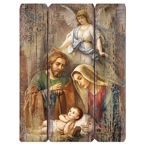 "Joseph's Studio Holy Family Decorative Panel 17"" 20-31292"