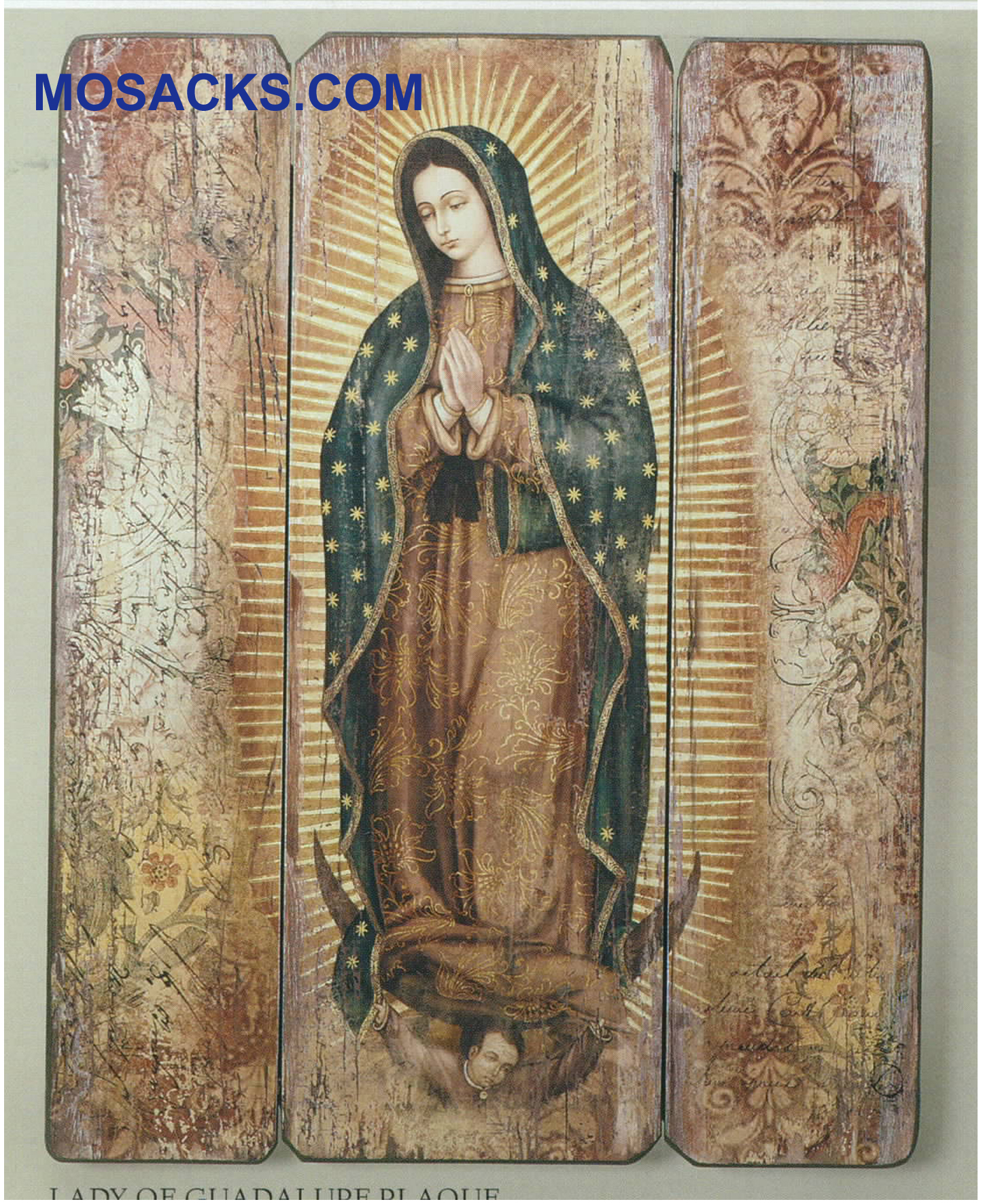 "Joseph's Studio Our Lady Of Guadalupe Decorative Panel 15"" 20-66421"