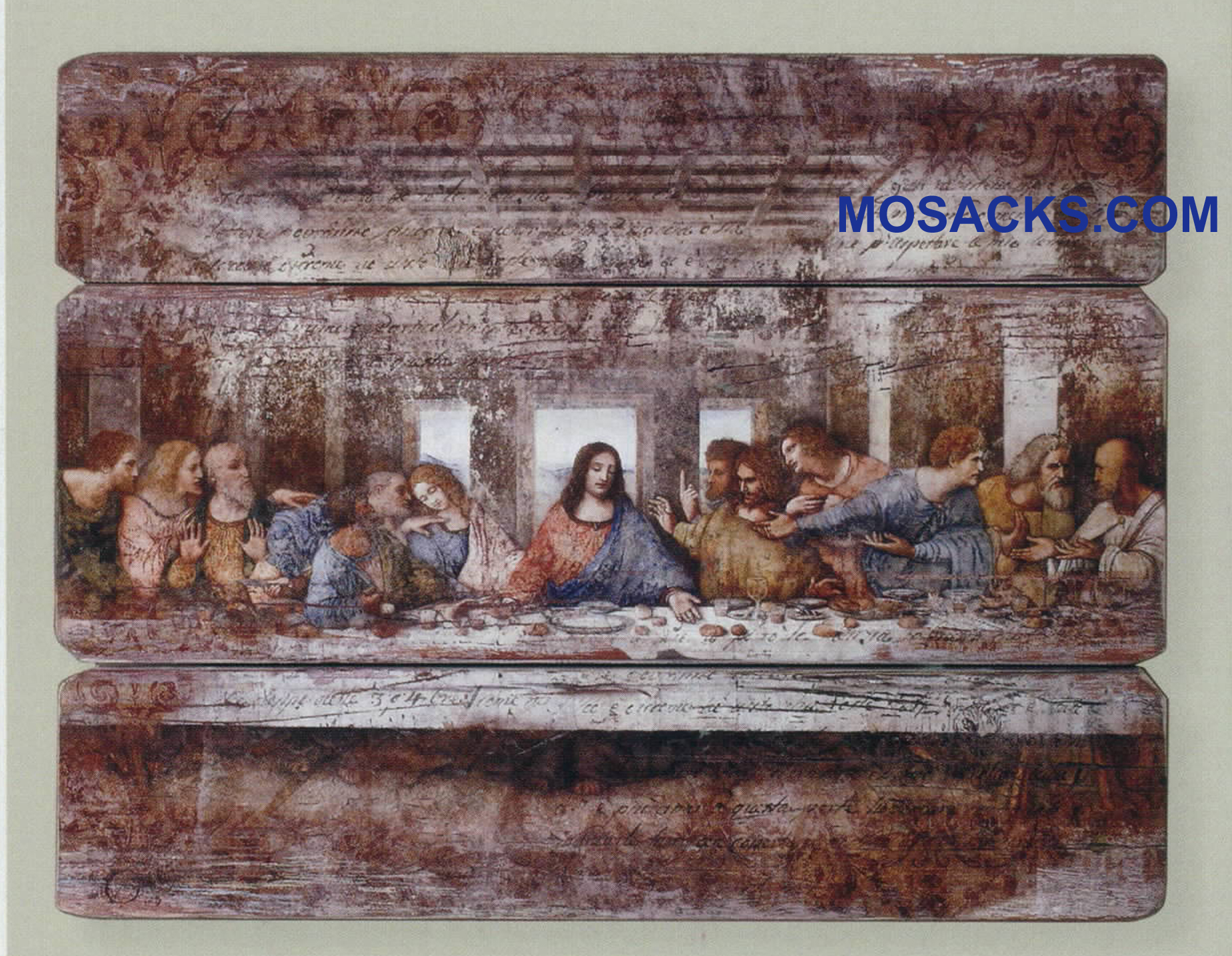 "Joseph's Studio Decorative Panel Last Supper DaVinci 26"" 20-40507"