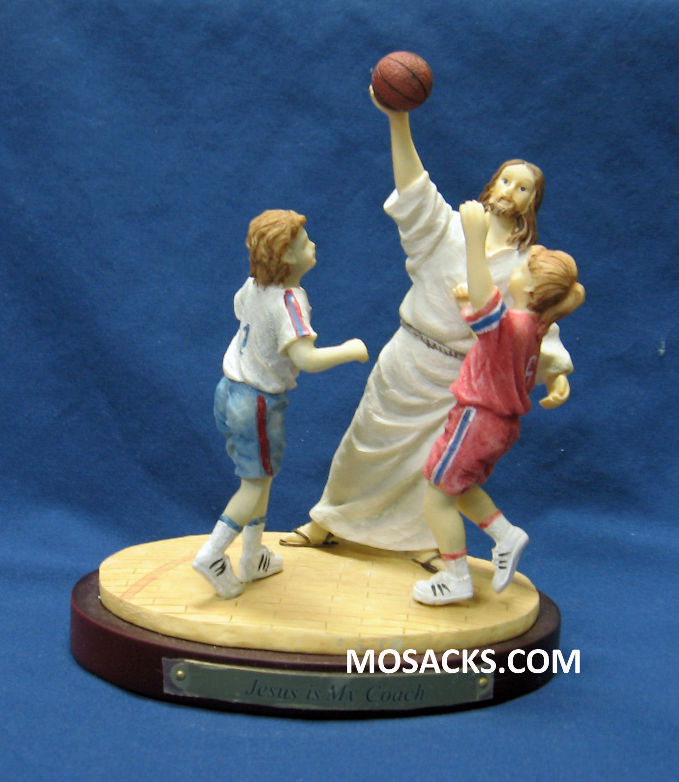"""Jesus Is My Coach"" Basketball Figurine #13981"