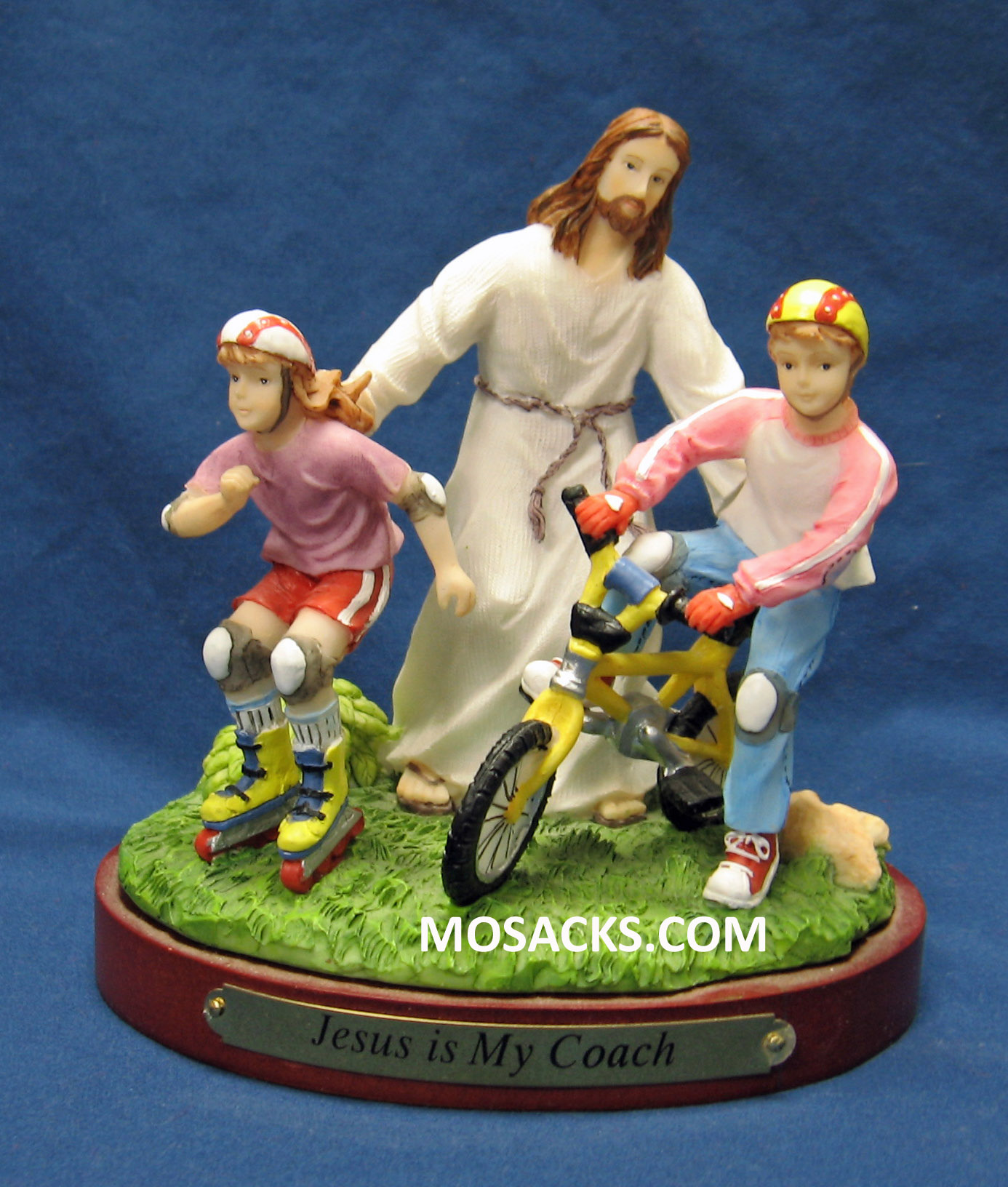 "Sports ""Jesus Is My Coach"" Biking/Rollerblading Figurine #13987"