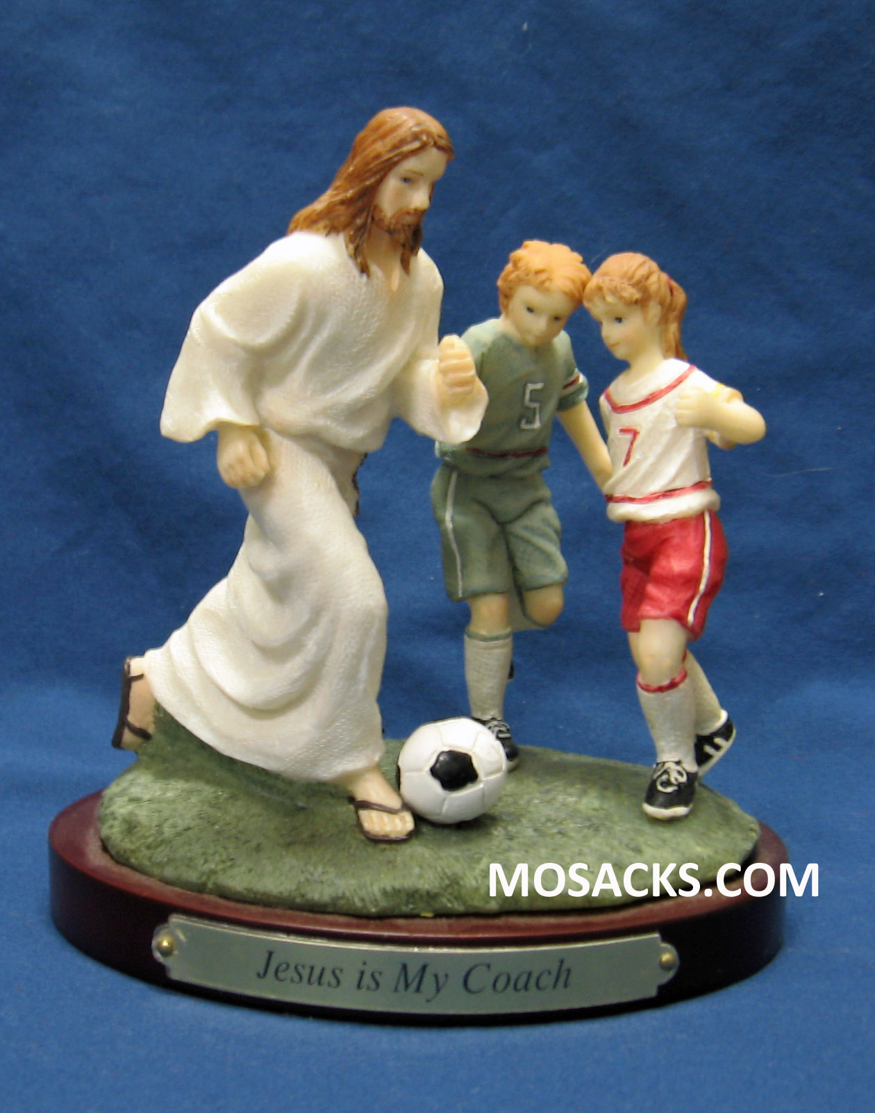 "Sports ""Jesus Is My Coach"" Soccer Figurine #13977"