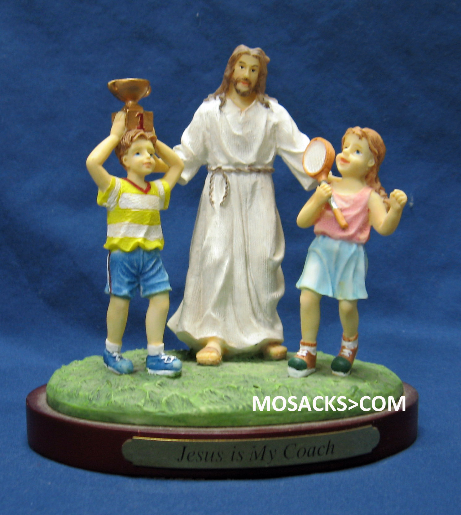 "Sports ""Jesus Is My Coach"" Tennis Figurine #13974"