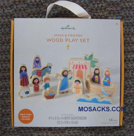 Jesus and Friends Wood Play Set 1Kid1123