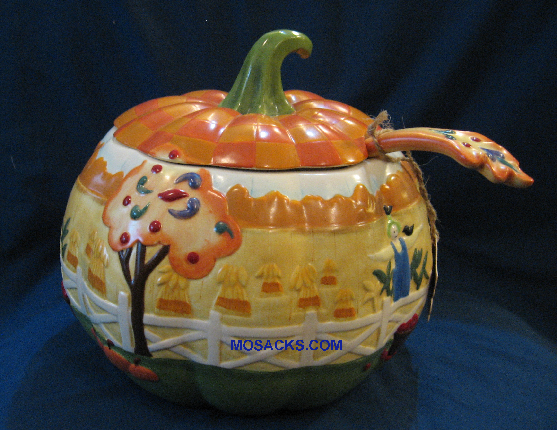 Jim Shore's Heartwood Creek Fall Harvest SoupTureen with Ladle 4003290