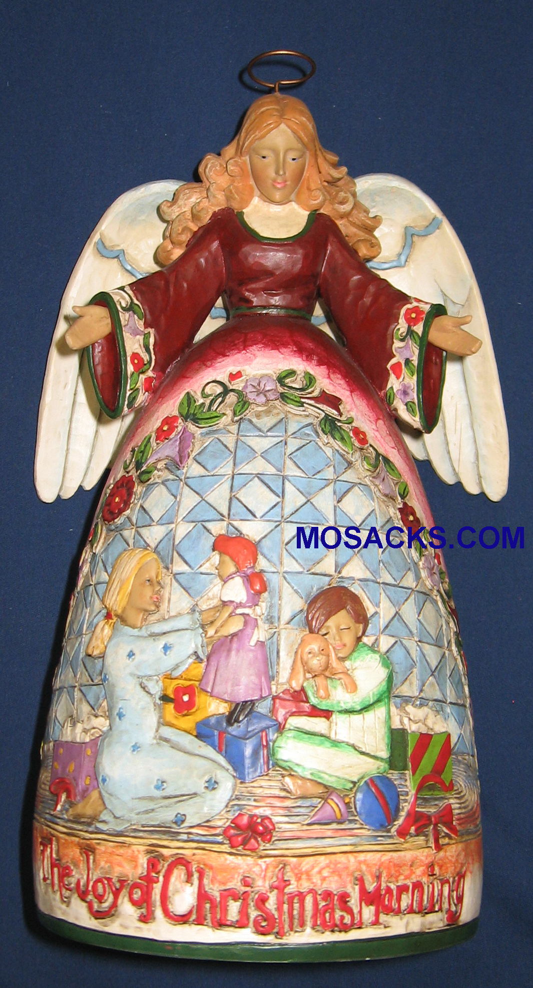 "Jim Shore Heartwood Creek 11"" The Joy of Christmas Morning Angel 258-400532"