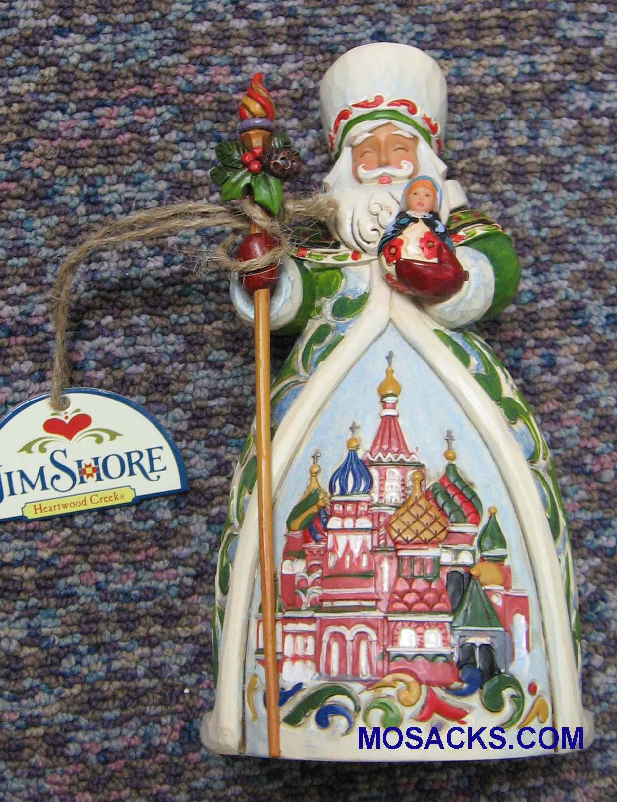 "Jim Shore Heartwood Creek 6-5"" Russian Santa 258-4017650"