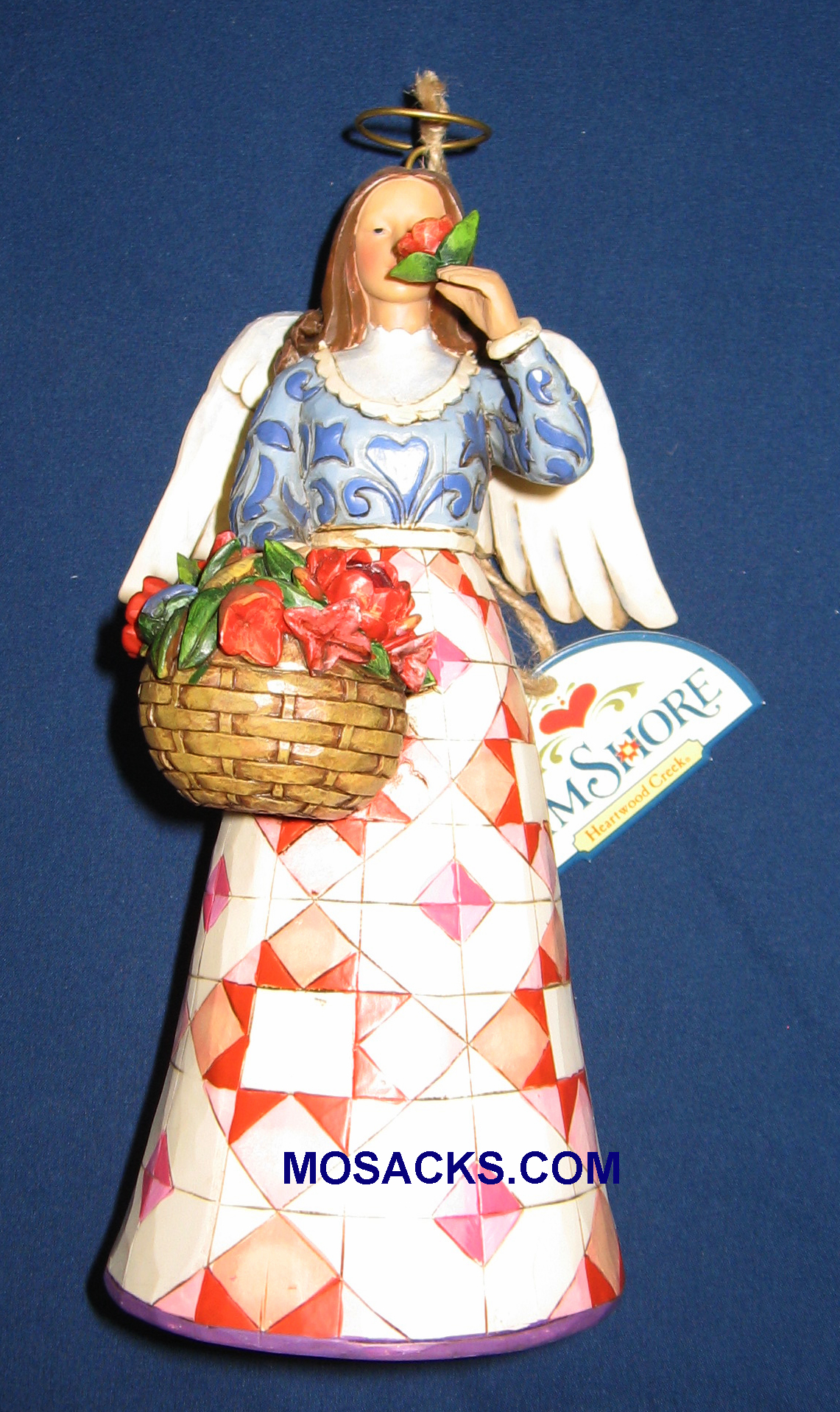 "Jim Shore Heartwood Creek 7.5"" Smell the Flowers Angel 258-4008943"