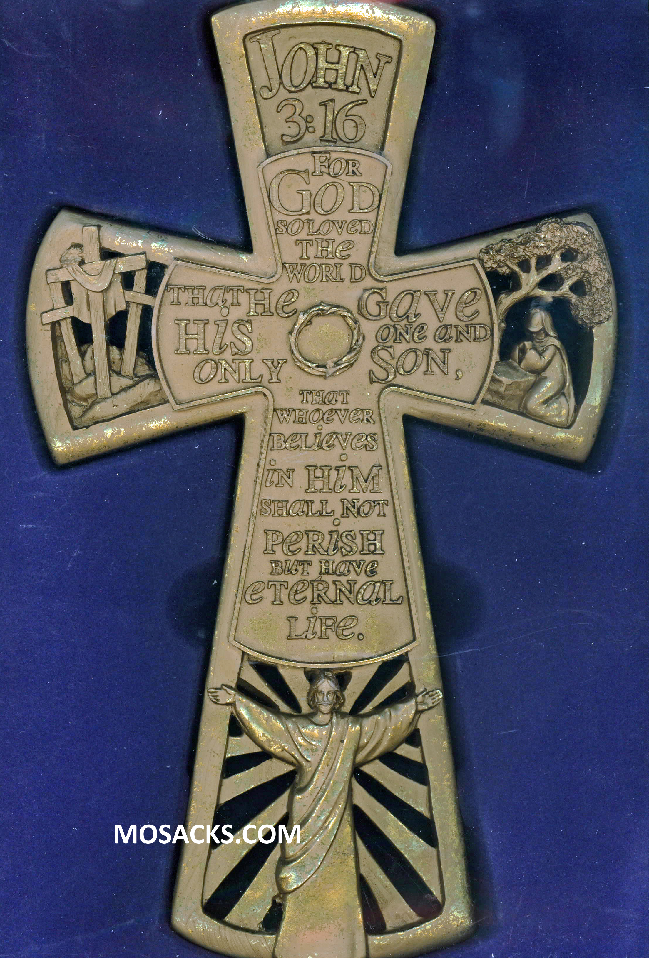 John 3:16 Wall Cross 11 Inch 71-WCR-106DA